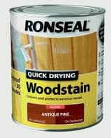Ronseal Quick Drying Woodstain Gloss 750ml - Antique Pine